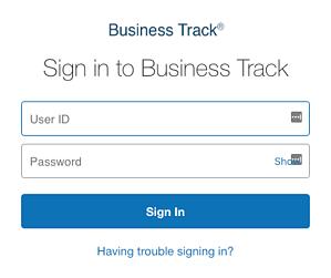 Business Track Login