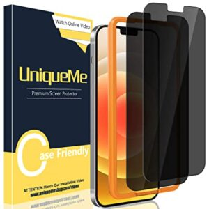UniqueMe 2 Pack Tempered Glass Privacy Screen Protector