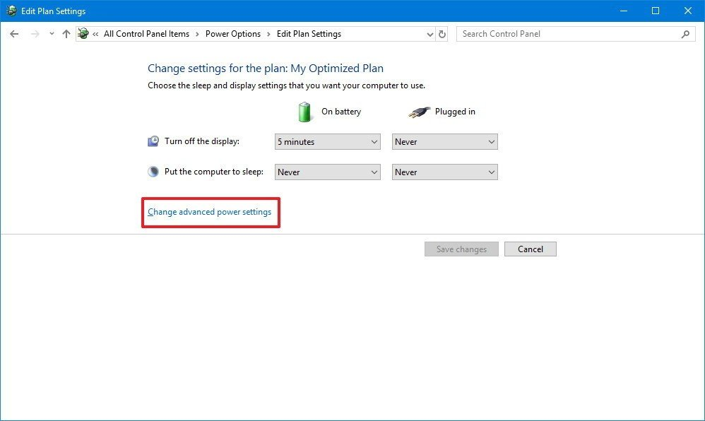 Change The Power Settings On Your Computer